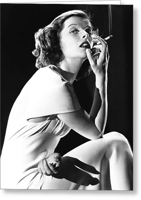 Katharine Hepburn Greeting Card by Silver Screen