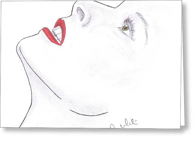 Steven White Greeting Cards - Katherine Greeting Card by Steven White