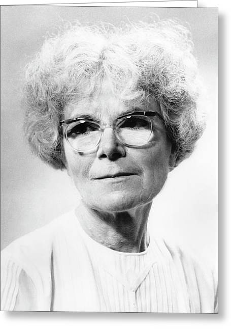 Kathleen Lonsdale Greeting Card by Emilio Segre Visual Archives/american Institute Of Physics