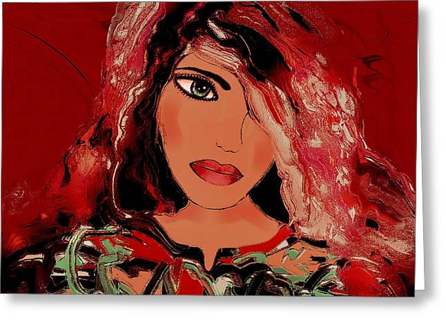 Woman In A Dress Greeting Cards - Katia Greeting Card by Natalie Holland