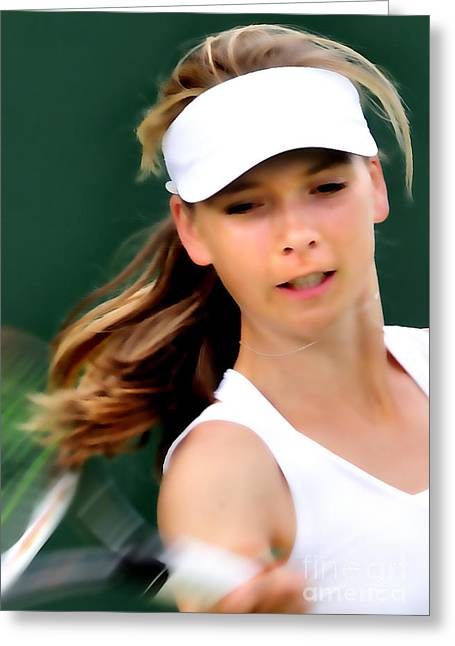 Wimbledon Photographs Greeting Cards - Katie Boulter 2 Greeting Card by Phil Robinson