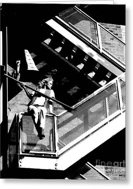 Katie-fire Escape Greeting Card by Gary Gingrich Galleries