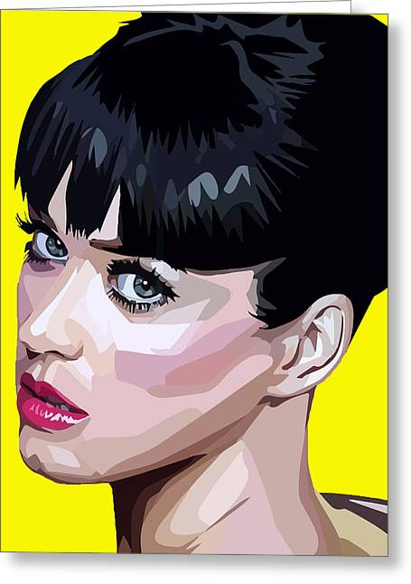 Katy Perry Greeting Cards - Katy Perry Greeting Card by Aura Art