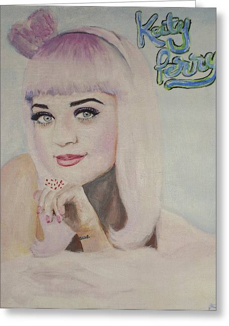 Katy Perry Greeting Cards - Katy Perry - California Girls Greeting Card by Jodie Welsh