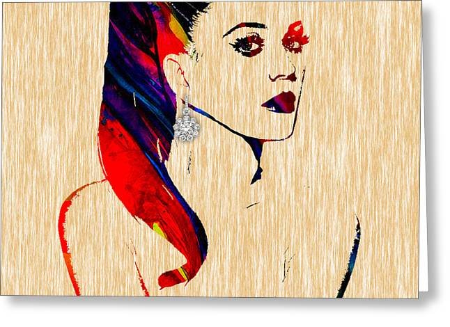Pop Star Greeting Cards - Katy Perry Collection Greeting Card by Marvin Blaine