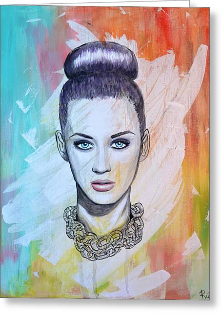 Katy Perry Greeting Cards - Katy Perry Greeting Card by Ruth Oosterman