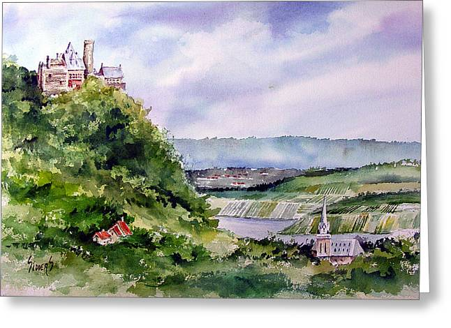 River Valley Greeting Cards - Katz Castle Greeting Card by Sam Sidders