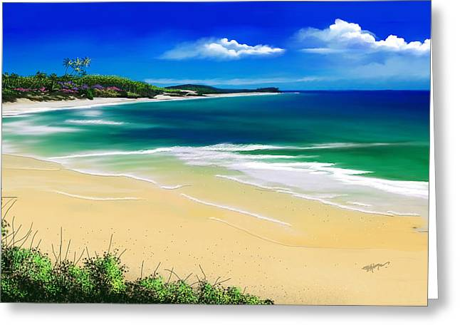 Seascape Art Greeting Cards - Kauai beach solitude Greeting Card by Anthony Fishburne