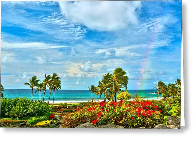 Kauai Bliss Greeting Card by Marie Hicks