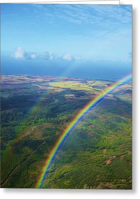 Kauai Double Rainbow Greeting Card by Kicka Witte