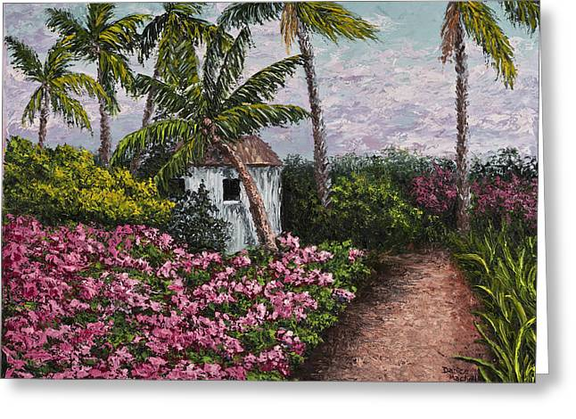 Recently Sold -  - Shack Greeting Cards - Kauai Flower Garden Greeting Card by Darice Machel McGuire