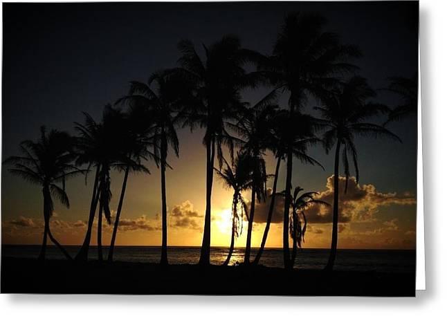 Iphonesia Greeting Cards - Kauai Morning Greeting Card by Ange Sylvestri