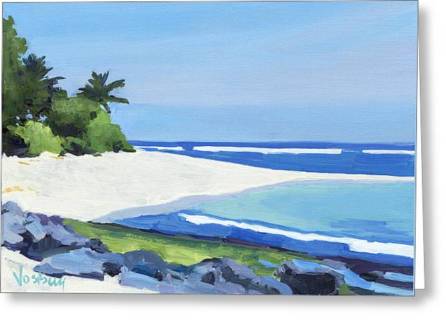 Lahaina Greeting Cards - Kauai Northshore Beach Greeting Card by Stacy Vosberg