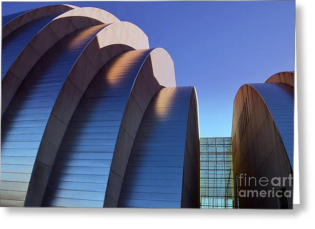 Moshe Greeting Cards - Kauffman Center Halves in Kansas City Greeting Card by Catherine Sherman