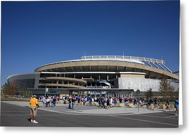 Royal Family Arts Greeting Cards - Kauffman Stadium - Kansas City Royals Greeting Card by Frank Romeo