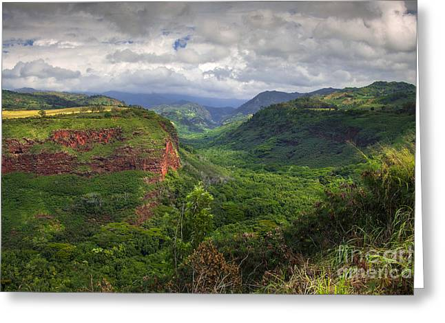 Nada Mas Photography Llc. Greeting Cards - Kaui Lookout Greeting Card by Marco Crupi