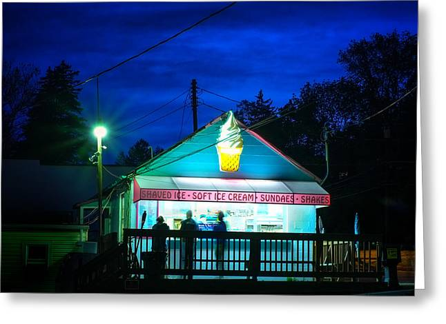 Summer Storm Greeting Cards - Kavern Ice Cream Catonsville Maryland Greeting Card by Geoffrey Baker