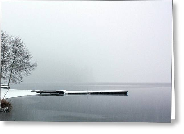 Kawkawa Lake In Winter Greeting Card by Gerry Bates