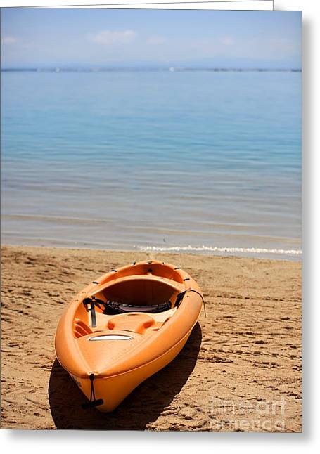 Kayak Greeting Cards - Kayak Paradise Greeting Card by Sophie Vigneault