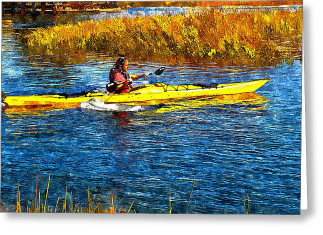 Kayak Greeting Cards - Kayak Greeting Card by Rick Mosher