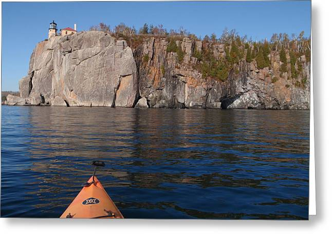 Peterson Nature Photography Greeting Cards - Kayaking Beneath the Light Greeting Card by James Peterson