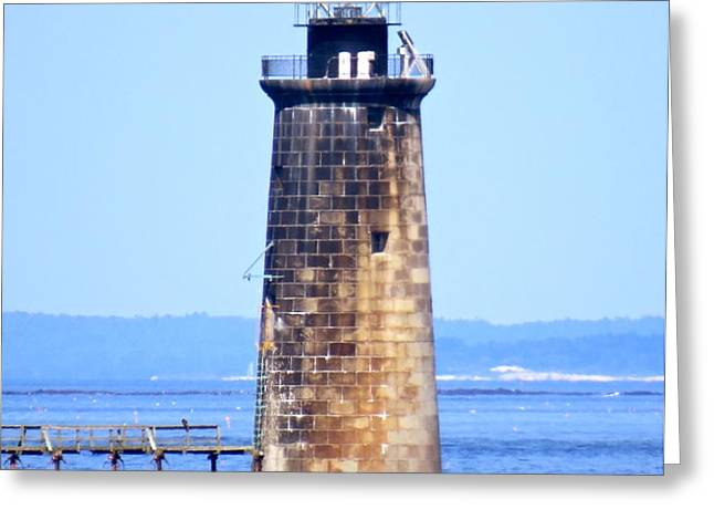 Kayaking By Ram Island  Greeting Card by Nancy Patterson