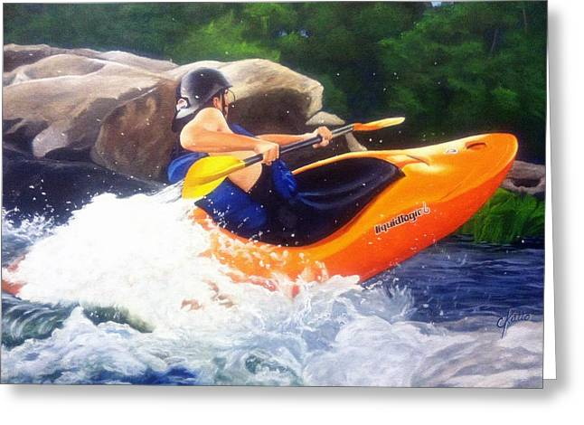 Kayaking Fun Greeting Card by Cireena Katto