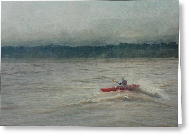 Ontario Sports Art Greeting Cards - Kayaking In Port Dover Greeting Card by Eduardo Tavares