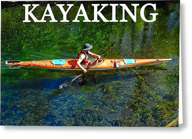 Kayaks Greeting Cards - Kayaking work A Greeting Card by David Lee Thompson