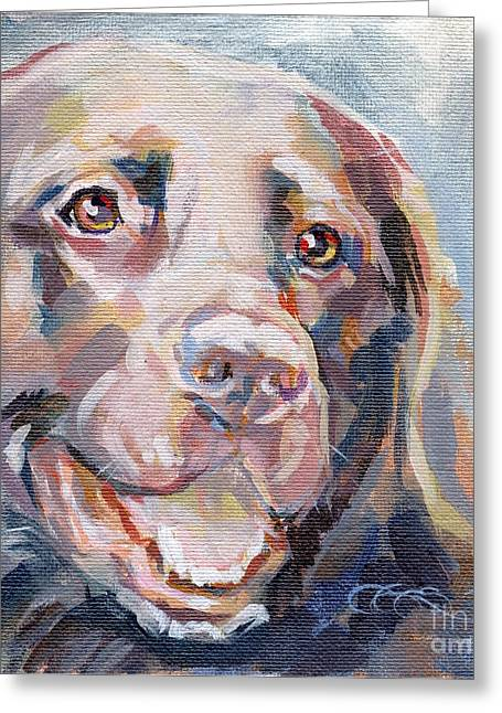 Chocolate Lab Greeting Cards - Kayla Greeting Card by Kimberly Santini