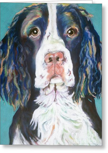 Acrylic Pastels Greeting Cards - Kayla Greeting Card by Pat Saunders-White