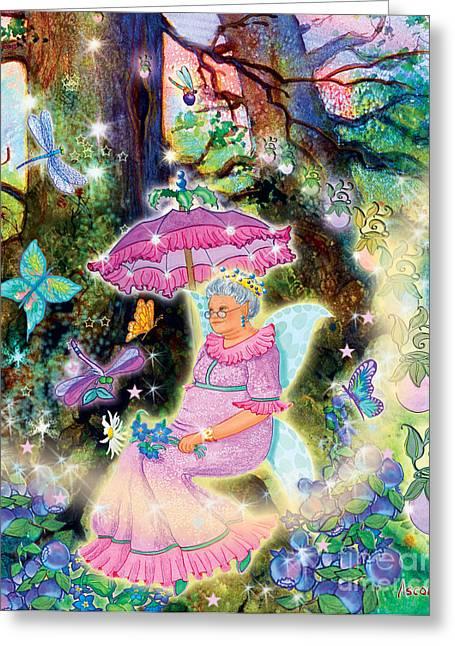 Banquet Digital Art Greeting Cards - Kayrissa Twinkle Greeting Card by Teresa Ascone