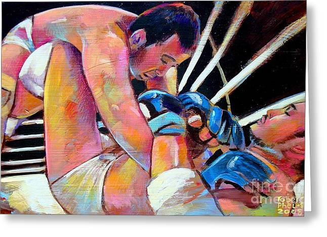 Kazushi Sakuraba 1 Greeting Card by Robert Phelps