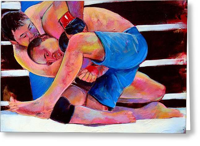 Kazushi Sakuraba Greeting Card by Robert Phelps