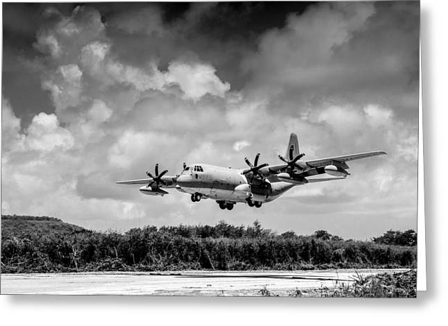 Kc Greeting Cards - KC-130 Approach Greeting Card by Alexander Snay