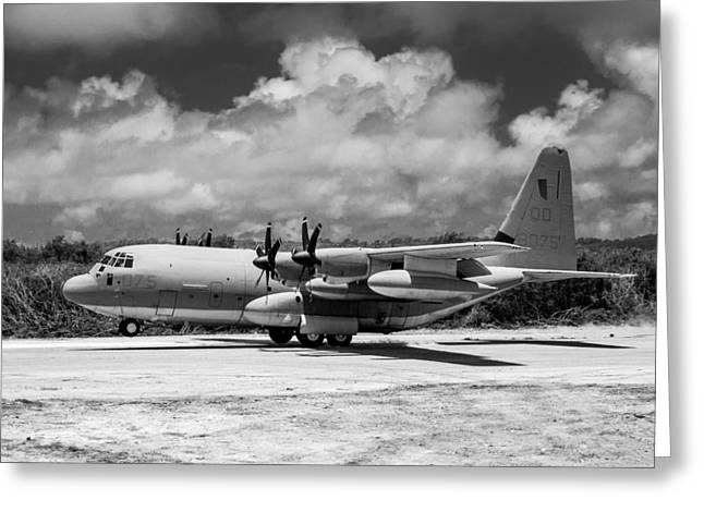 Kc Greeting Cards - KC-130 Touching Down Greeting Card by Alexander Snay