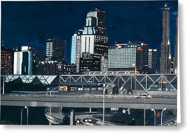 Kc At Dusk Greeting Card by Patricio Lazen