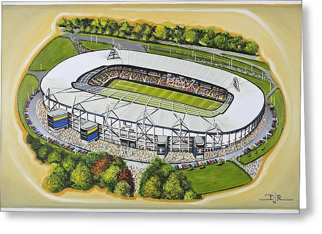 Soccer Greeting Cards Greeting Cards - KC Stadium - Hull City Greeting Card by D J Rogers