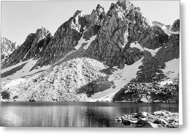 Mountain Digital Art Greeting Cards - Kearsage Pinnacles Kings River Canyon California Greeting Card by Ansel Adams