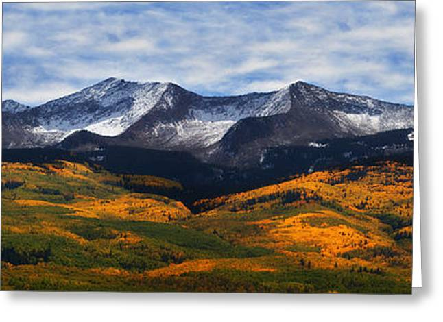 Colorado Mountain Prints Greeting Cards - Kebler Pass Fall Colors Greeting Card by Darren  White