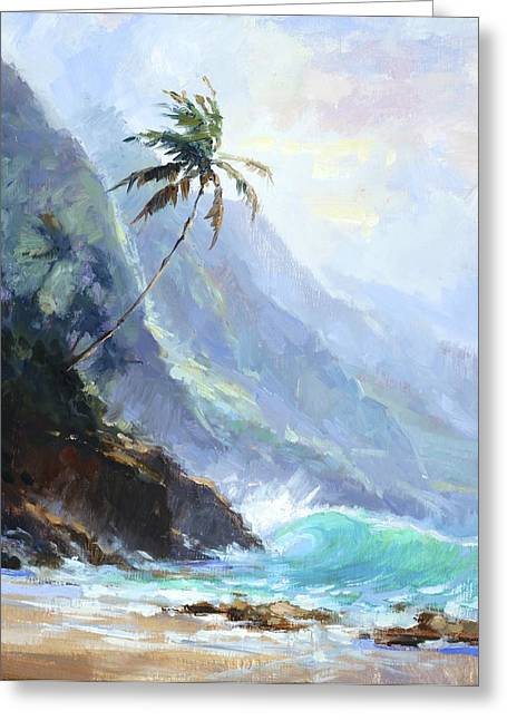 Ke'e Beach Greeting Card by Jenifer Prince