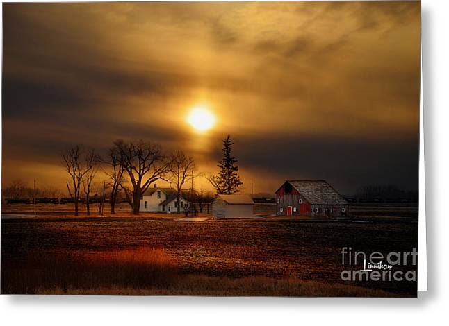 Recently Sold -  - Old Barns Greeting Cards - Keeley Farm # 180 Greeting Card by Mike  Linnihan