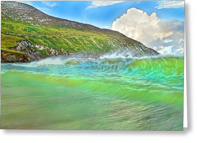 Surf Lifestyle Greeting Cards - Keem Beach Beauty Achill Island Greeting Card by Betsy C  Knapp