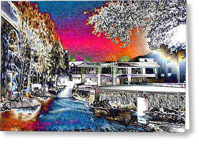 Keeneland Digital Greeting Cards - Keeneland in Winter Color Greeting Card by Christopher Hignite