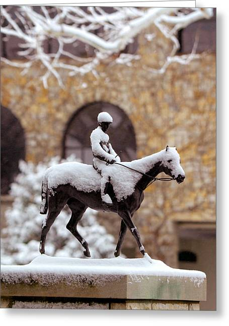 Keeneland In Winter Greeting Card by Sid Webb