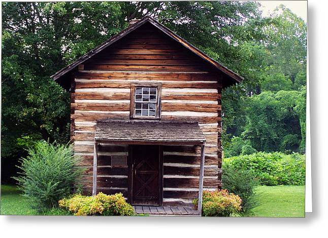 Log Cabin Art Digital Art Greeting Cards - Keener Craft cabin Greeting Card by Chris Flees