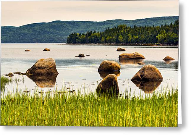 Nature Greeting Cards - Keep Calm - River Rocks 1 Greeting Card by Frank Iusi
