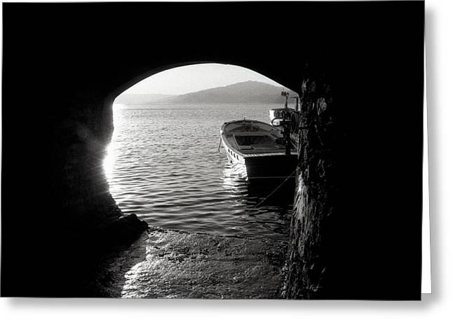 Boats In Water Greeting Cards - Keep it a secret Greeting Card by Taylan Soyturk