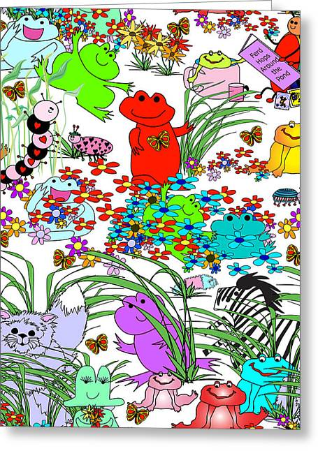 Huckleberry Digital Art Greeting Cards - Keep Looking-Whos Hiding? Greeting Card by Chris Morningforest