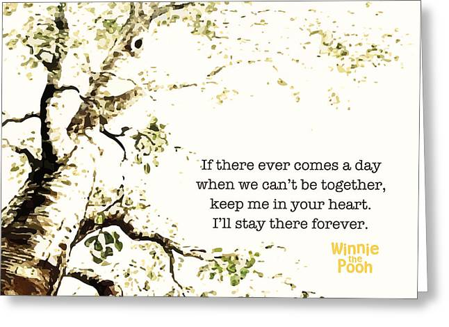 Keep Me In Your Heart Greeting Card by Nancy Ingersoll